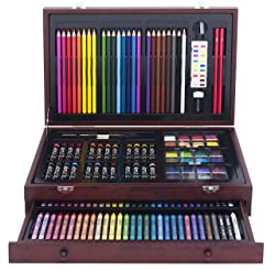 142-Piece Wood Art Set - gifts for 13 year old girls