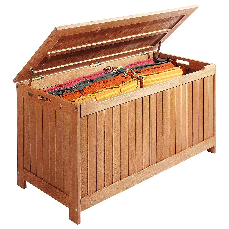 Auflagenbox Kissenbox Holz Braun