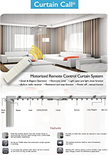 Wonderful Electric Remote Controlled Drapery System W/10u0027 Track Center Opening U0026 Wall  Mount Brackets