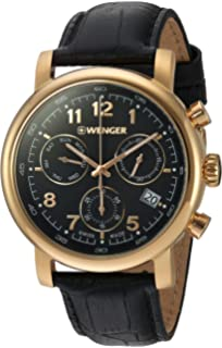 Wenger Mens Urban Classic Chrono Swiss Quartz Stainless Steel Casual Watch, (Model
