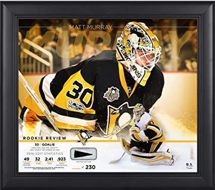 """adf5ffba0df Matt Murray Pittsburgh Penguins Framed 15"""" x 17"""" Rookie Review  Collage with Piece of"""