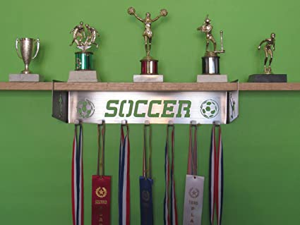 Soccer Trophy Shelf And Medal Display Female