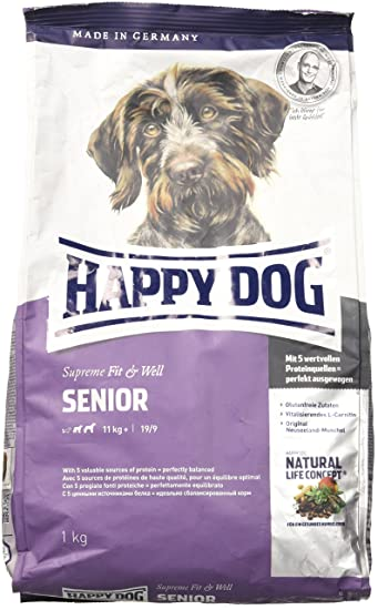 Happy Dog Dry Dog Food Senior 1 Kg Amazon Co Uk Pet Supplies