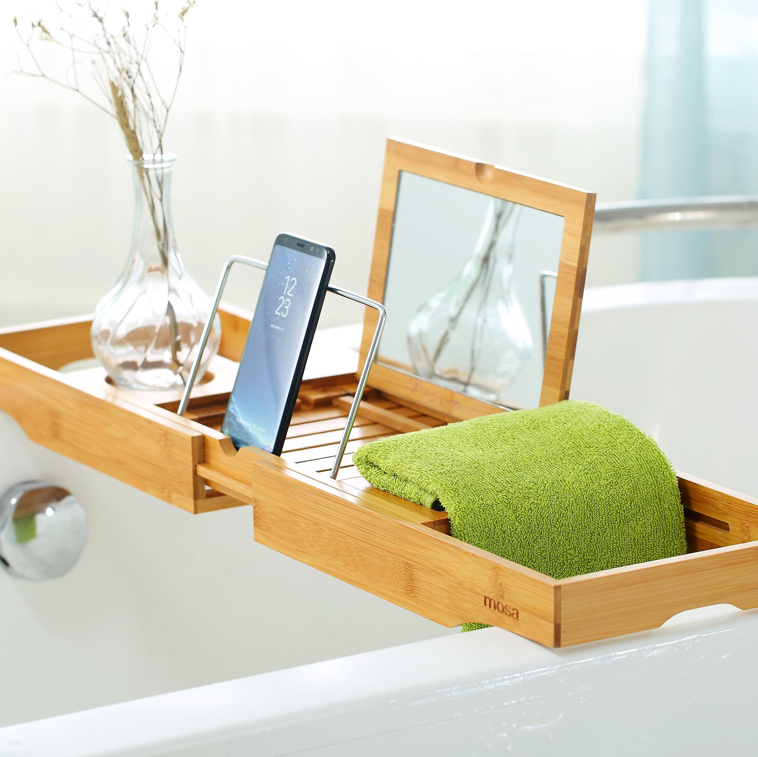 tub bathtub bath book with shampoo wood holder magazine wine pine product phone rack grey caddy bridge handles rope tablet solid wooden borewood glass tray clawfoot handmade