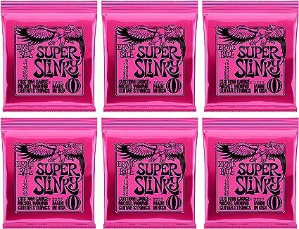 Ernie Ball Super Slinky Nickel Wound Guitarra eléctrica Cuerdas ...