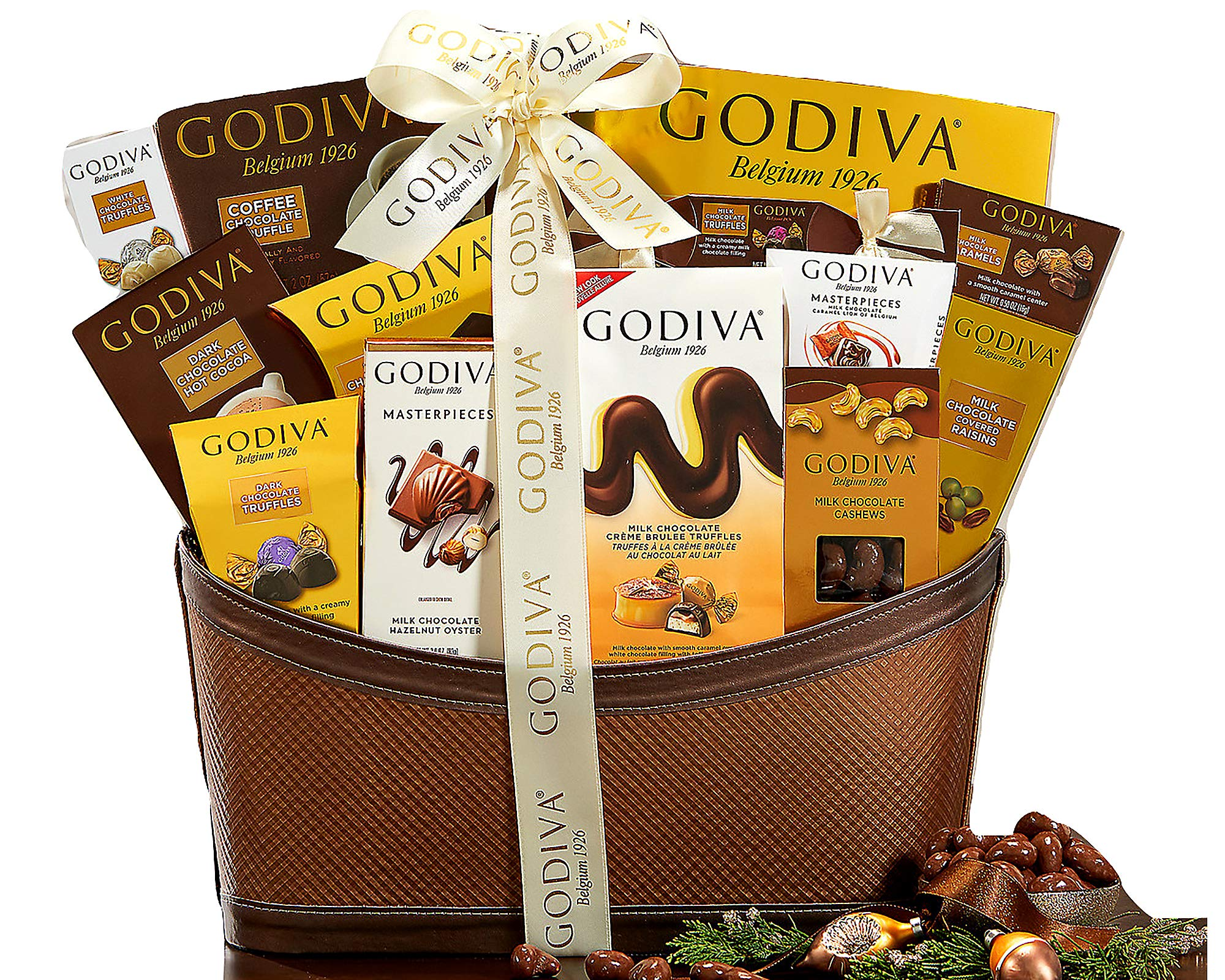 Godiva Wishes Chocolatier Classic Ribbon Signature Chocolate Lovers Gift Basket by Wine Country Gift Baskets