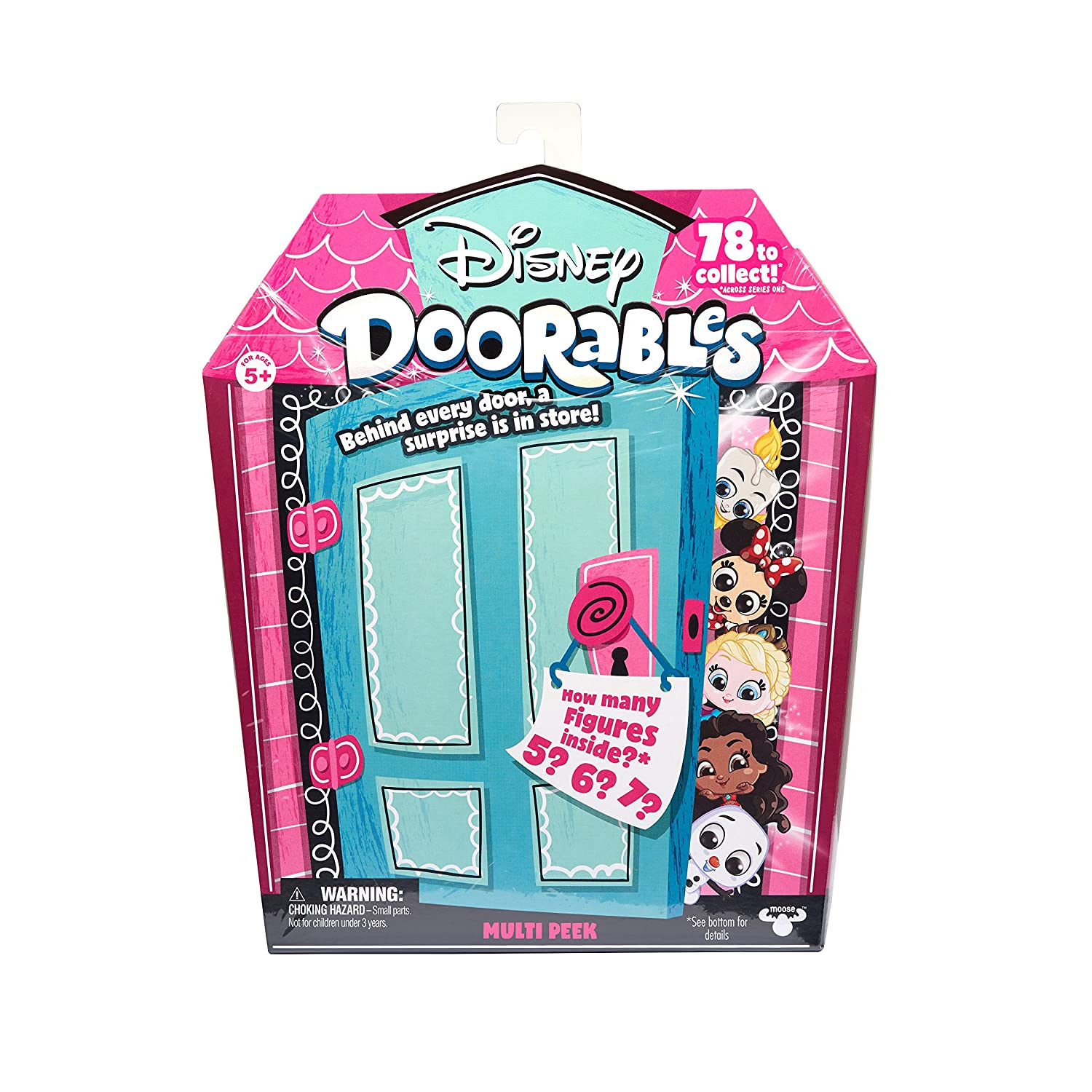 Disney Doorables 69402 Multi Pack Figure Playset, Multicolour Moose