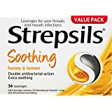 Strepsils Double Antibacterial Soothing Sore Throat Lozenges Honey and Lemon (36 Pack)