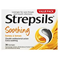 Strepsils Throat Lozenges Soothing Honey & Lemon (Count of 36)