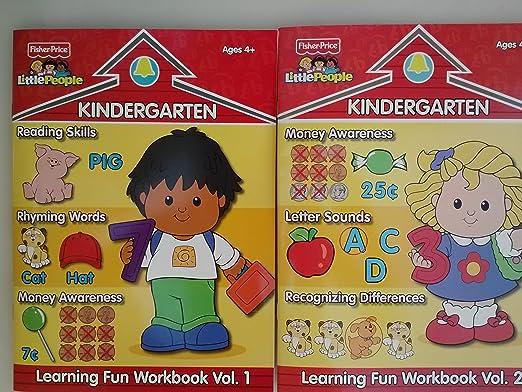 Amazon.com: Fisher-Price Kindergarten Workbooks Vol 1 & 2 - 2pc ...