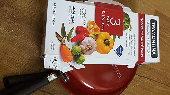 Amazon.com: Tramontina Gourmet Selection 3-pack Saute Pans - Red ...