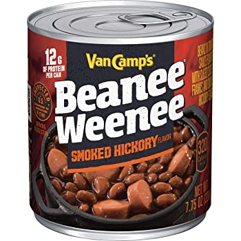 VAN CAMP'S 7.7 oz. Hickory Beans & Hot Dogs