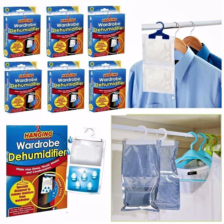 ARIANA HOMEWARE 6 x Hanging Wardrobe Dehumidifier Stop Moisture Remover Damp Ariana Online Ltd