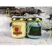 Grazie Maestra 2 vasetti con candele di cera di soia e oli essenziali - Regalo per la Maestra Fine anno scolastico Ritorno a scuola Regalo di Natale