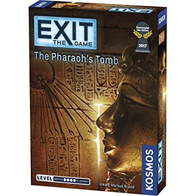 Exit: The Pharaoh's Tomb | Exit: The Game - A Kosmos Game | Kennerspiel Des Jahres Winner | Family-Friendly, Card-Based at-Home Escape Room Experience for 1 to 4 Players, Ages 12+: Toys & Games