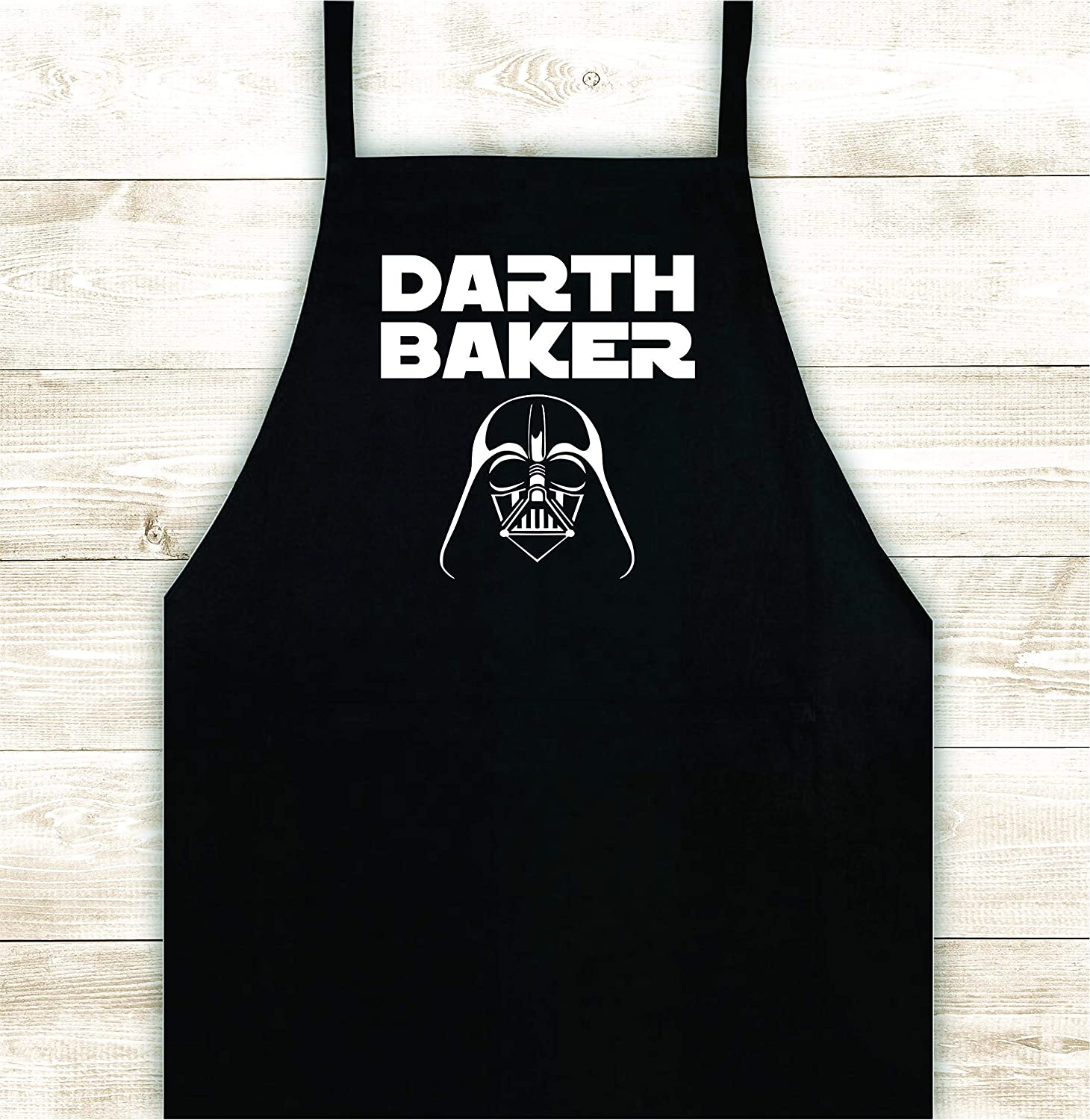 Darth Baker Apron Custom Design Heat Press Vinyl BBQ Cook Grill Barbeque Chef Funny Gift Cow Steak Men Pig Pork Bacon Party Bake Girls Food Father Gift Birthday Cookies Cake Brownies