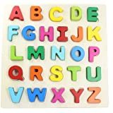 You&Xi Wooden Chunky Alphabet Puzzle Board