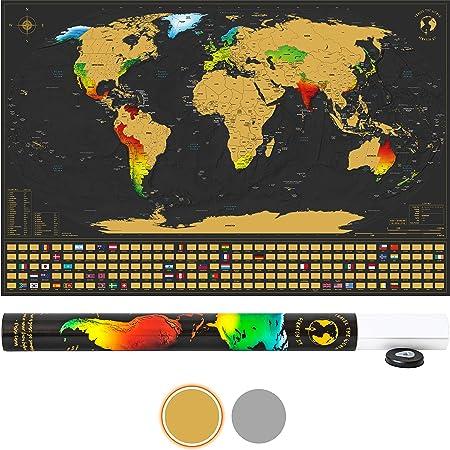Amazon De Scratch It Weltkarte Zum Rubbeln Rubbel Landkarte