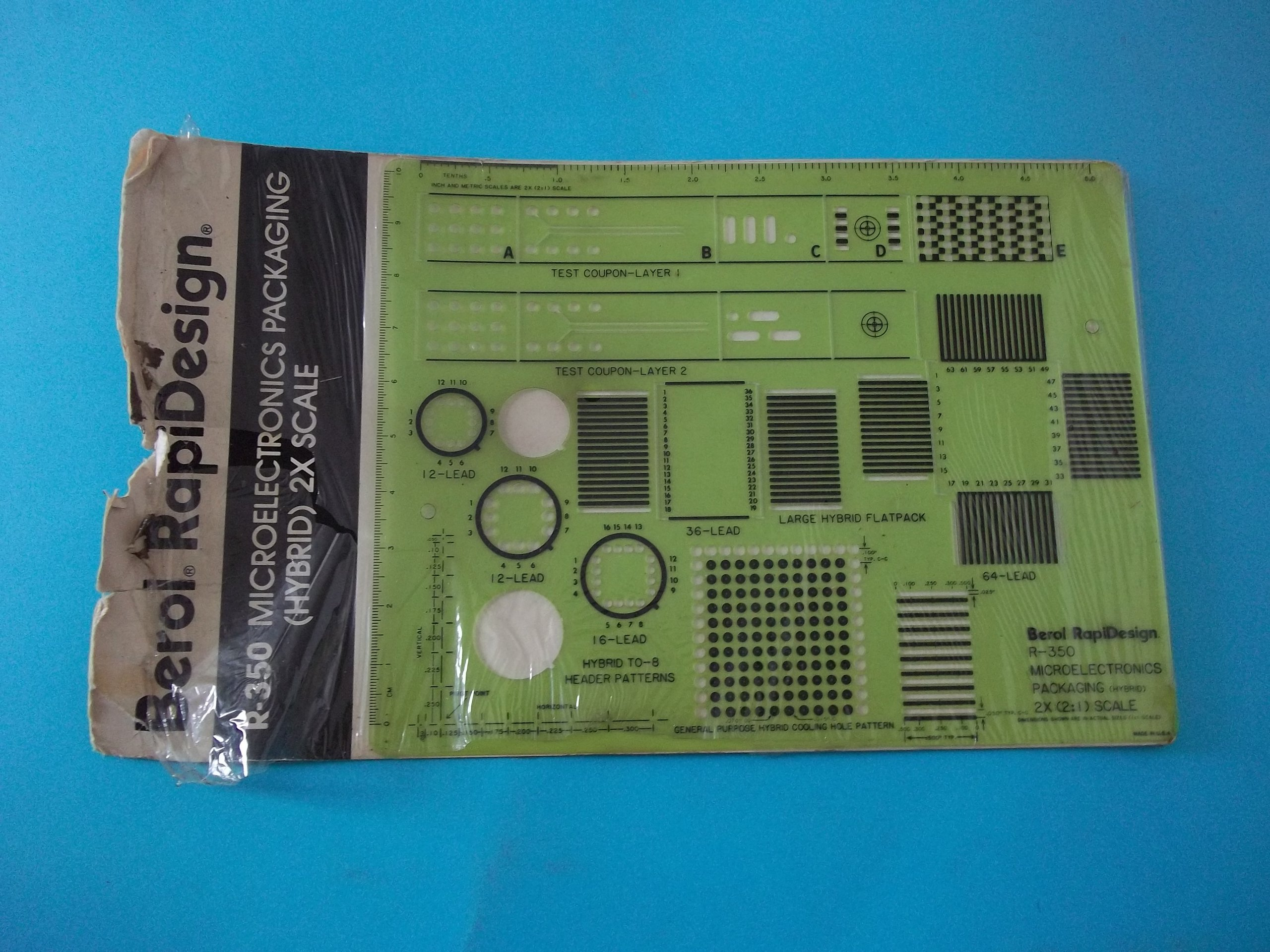 Berol RapiDesign R-350 MicroElectronics Packaging (Hybrid) 2X Scale Made in USA