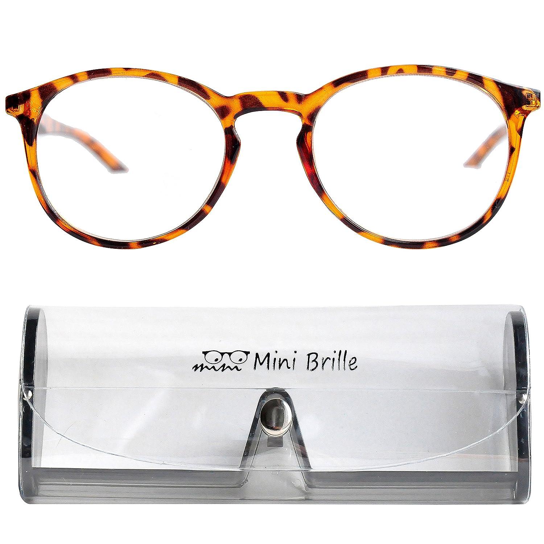 Klassische Nerd Lesebrille mit großen runden Gläsern - mit GRATIS ...
