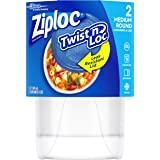 Ziploc Twist 'N Loc, Medium Round, Containers & Lids, 2 Count
