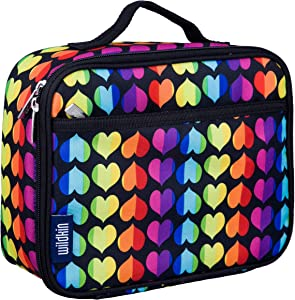 Wildkin Kids Insulated Lunch Box Bag for Boys and Girls, Perfect Size for Packing Hot or Cold Snacks for School & Travel, Measures 9.75 x 7.5 x 3.25 Inches, Mom's Choice Award Winner (Rainbow Hearts)