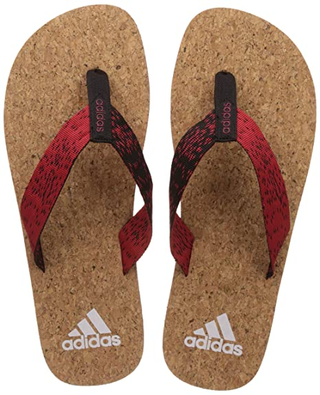 1c3bfd867 Adidas Men s Beach Cork Thong 2017 Scarle Black White Flip-Flops and House