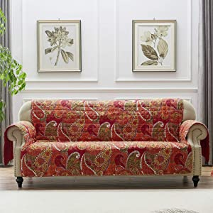 Greenland Home Tivoli Furniture Protector Slipcover, Sofa, Cinnamon