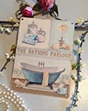 Bathing Parlour Vintage Artwork Metal Sign Small