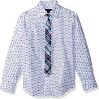Tommy Hilfiger Boys Long Sleeve Stretch Dress Shirt with Tie Dress Shirt