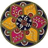 Daedal-Round Shape Velvet Rangoli DA101RAN