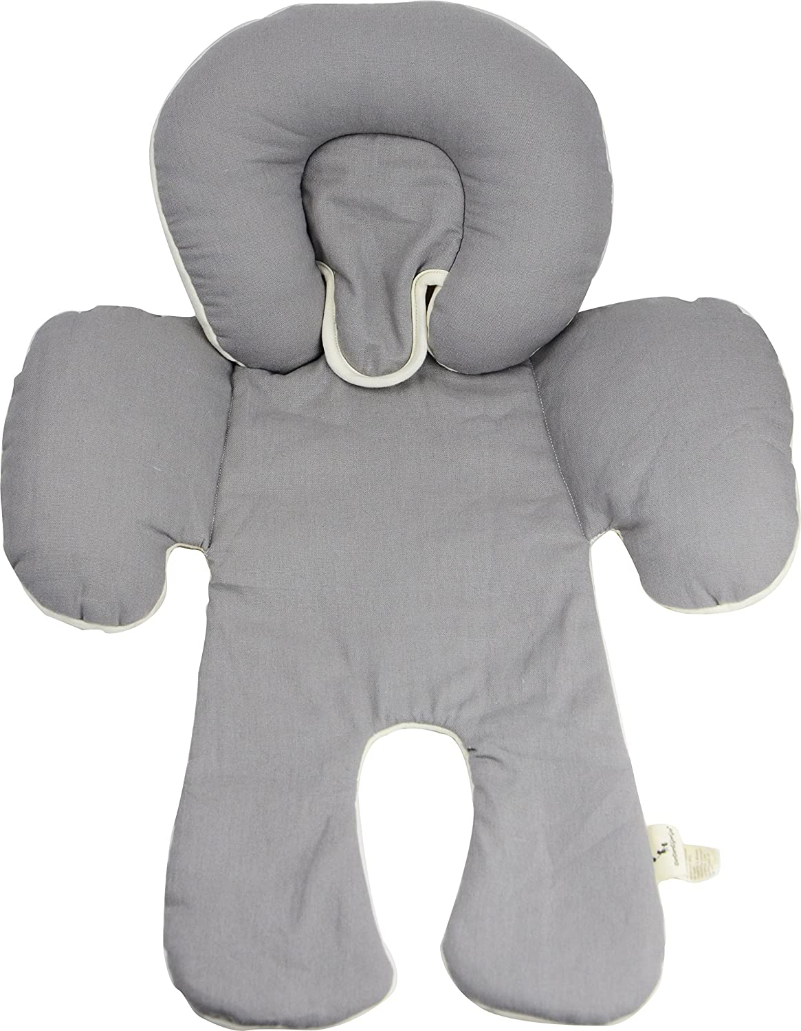 DorDor & GorGor CuddleME Infant Head Support with Organic Cotton, 2-in-1 Reversible, Gray Happy Show International Inc. BML019-GRAY-SELF