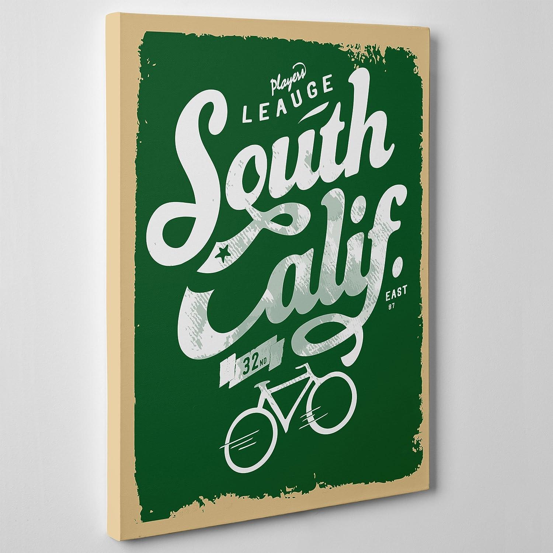 MODERNO lienzo Canvas-California del Sur South-Retro bicicleta ...