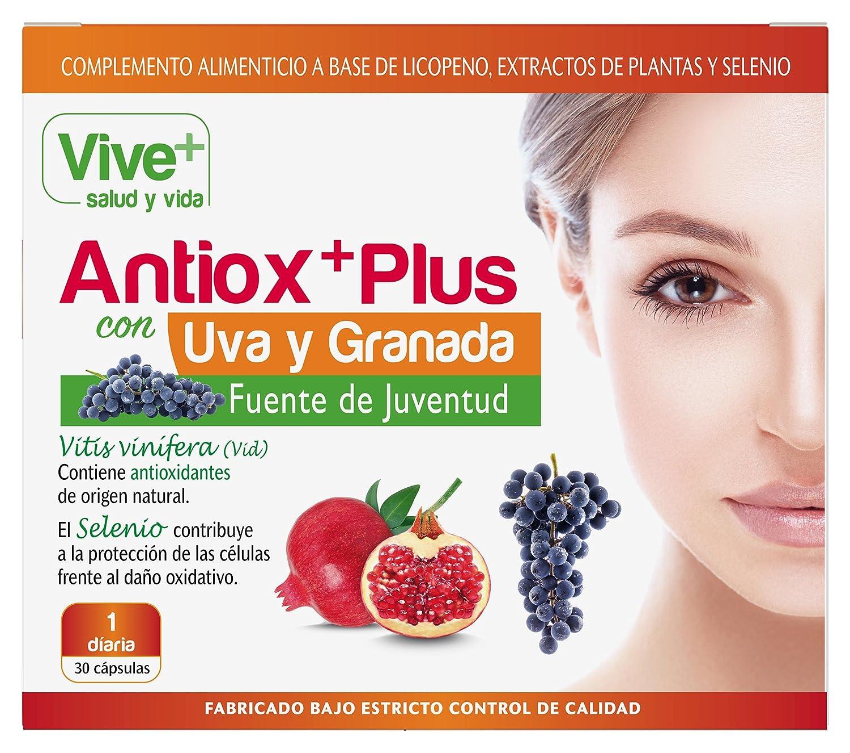 Vive+ Antioxplus Uva y Granada - 3 Paquetes de 30 Cápsulas: Amazon.es: Salud y cuidado personal