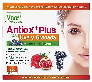 Vive+ Antioxplus Uva y Granada - 3 Paquetes de 30 Cápsulas ...