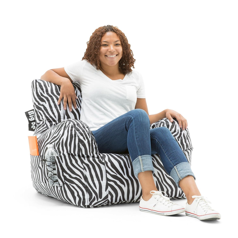 Amazon Com Big Joe 645182 Dorm Bean Bag Chair Zebra Kitchen Dining