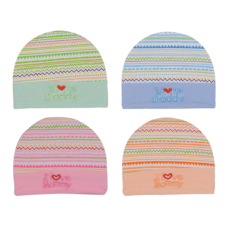 Badru New-born Baby Caps - 0-10 Months (Pack of 4)  Amazon.in  Baby c3253511562
