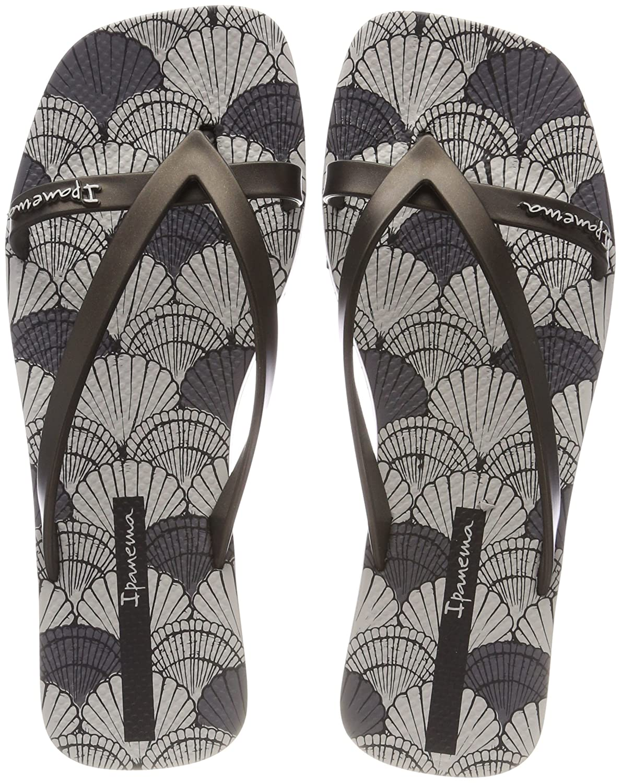 Ipanema Damen Fashion Kirey V Fem Zehentrenner  38 EU|Mehrfarbig (Grey/Black)