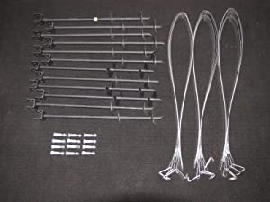 Mobile Home Parts Set of 12 Auger Type Anchors, Tie Down Straps and Bolts