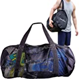Athletico Mesh Dive Duffel Bag for Scuba or Snorkeling - XL Mesh Travel Duffle for Scuba Diving and Snorkeling Gear…