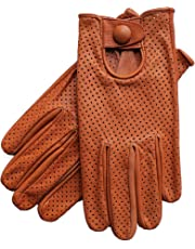 Riparo Women's Genuine Leather Mesh Perforated Driving Motorcycle Gloves