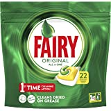 Fairy Original All in One Dishwasher Tablets Lemon 22 Pack