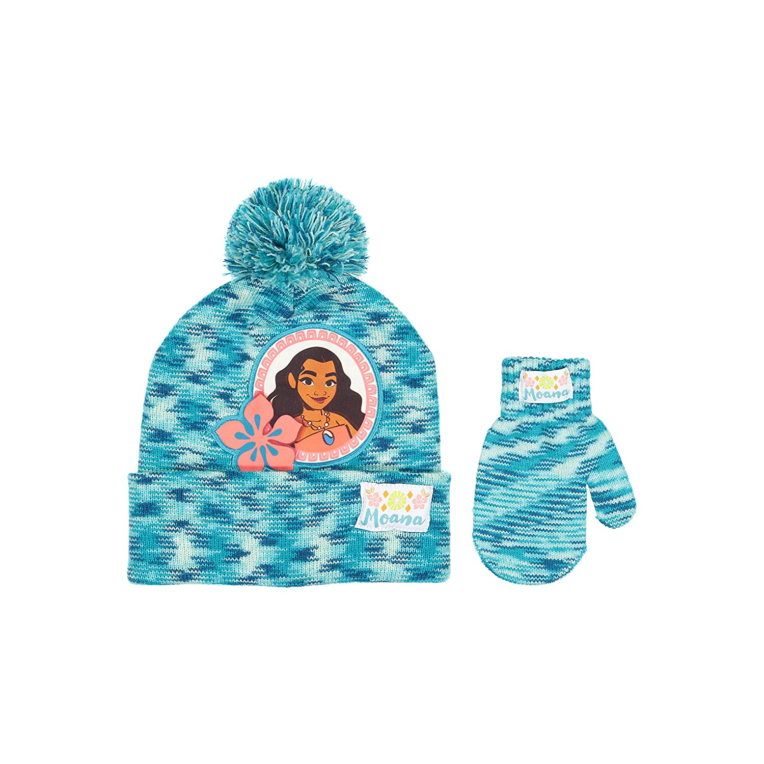 Disney Moana Character Beanie Winter Hat and Mitten Set - Toddler Size [4015]