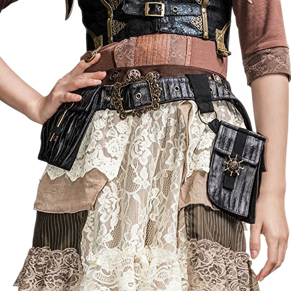 Steampunk Accessories | Goggles, Gears, Glasses, Guns, Mask Steampunk Cosplay Mediterranean Rudder Satchel School Girls Messenger Bags Pack $51.66 AT vintagedancer.com
