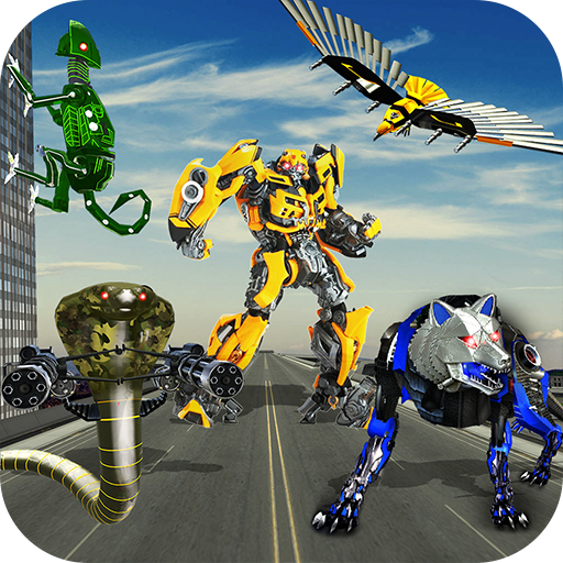 Multi Robot Survival Battle, Multi Robot Transform Wolf, Snake, Falcon & Lizard, robots at ultimate war as Real Strong steal Champions, Transforming Battle, Super Real Mech Robot Squad, Drone Transform, -