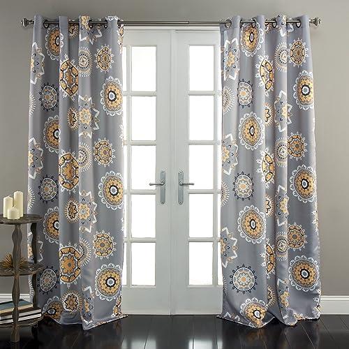 Lush Decor Adrianne Window Curtain Panel Set of 2