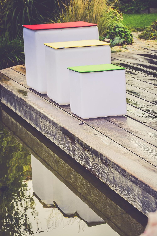 7even feltro Cuscino 40/x 40/cm per z.B Cube Sgabello di neon green/ /Singolo Lato 4/mm