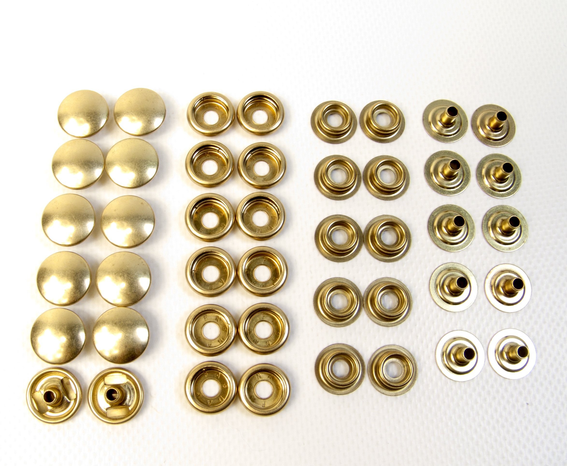 Brass Snaps, 100% Brass Not Plated, Line 24 10 Pc. Set by Brass Snaps (Image #3)