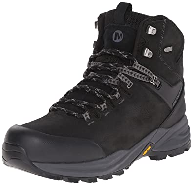 128498b5fe8 Merrell Men s Phaserbound Waterproof Hiking Boot Black 9.5 D(M) US ...