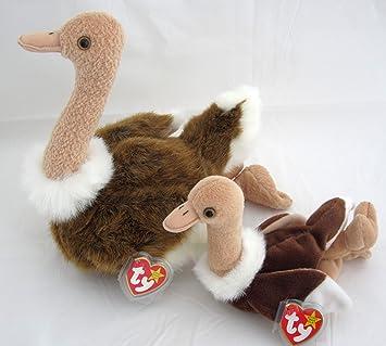 Amazon.com  Ty Beanie Buddy   Baby Bird Set - Stretch the Ostrich ... 1666eb9a5c7a